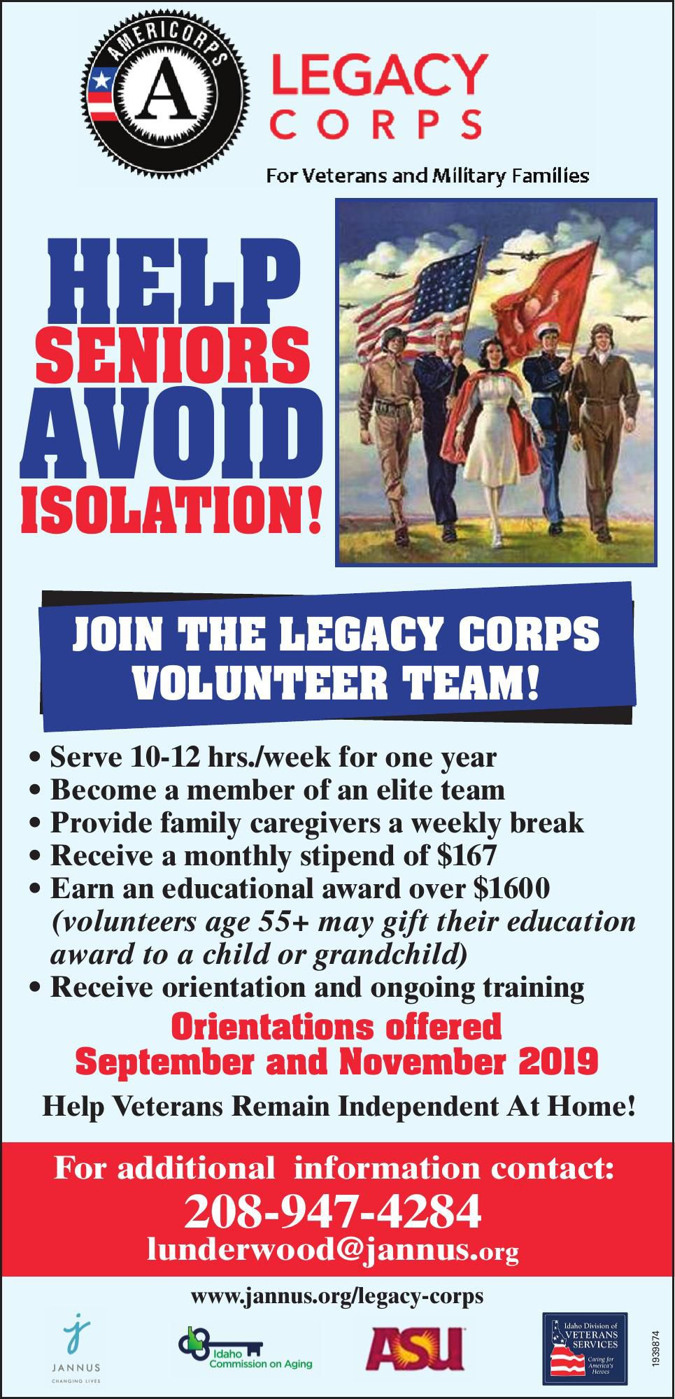 Legacy Corps for Veterans and Military Families