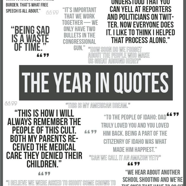 A look back at some of the best quotes of 2018 | Local News