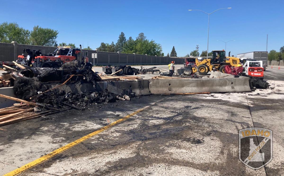 9-vehicle crash I-84 Boise 5/11/21