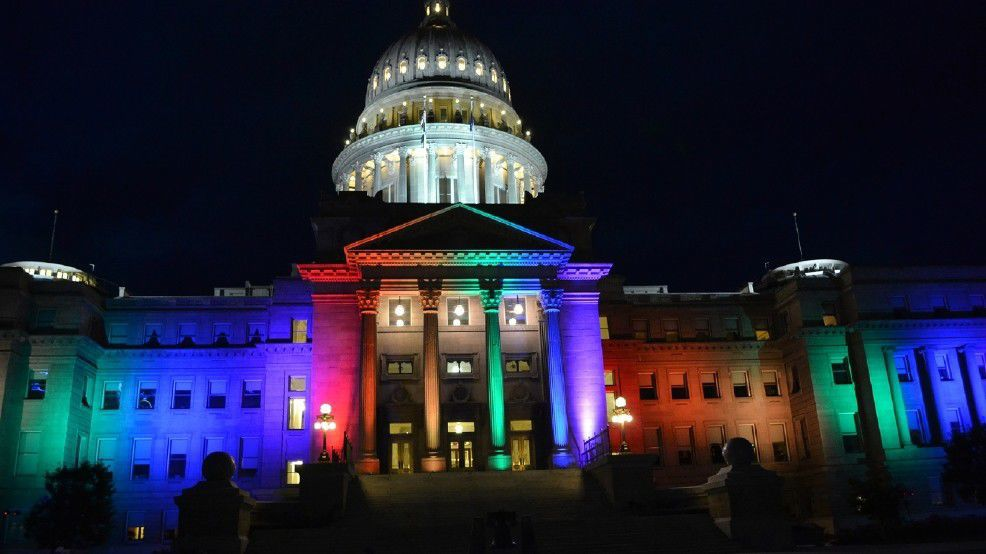 Capitol lit up for Pridefest