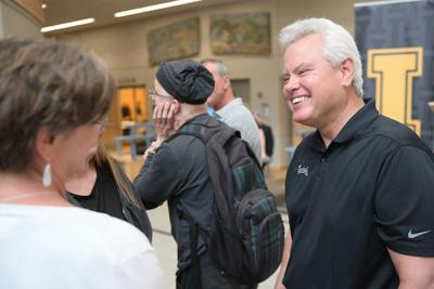 New UI president Scott Green greets campus at welcome bbq