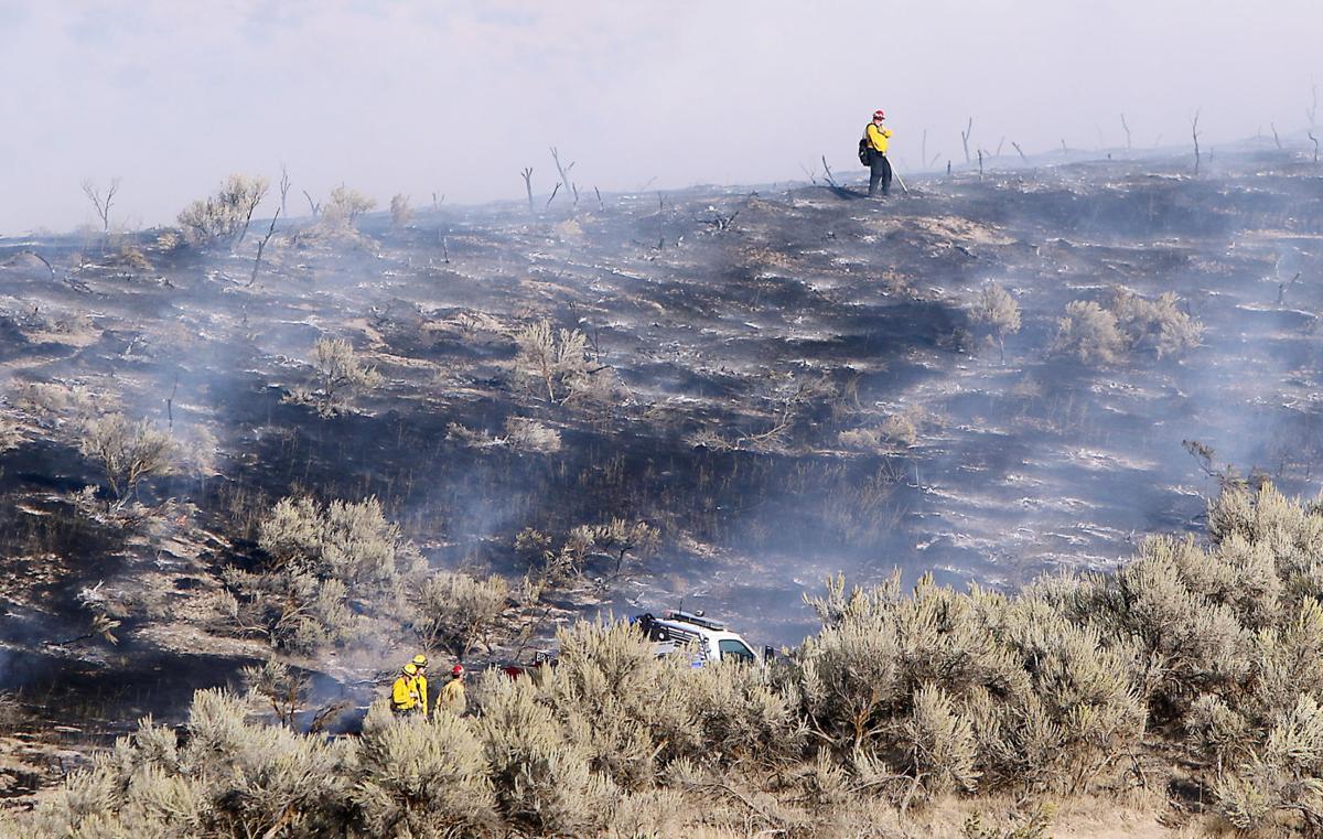 Brush Fire northeast of Eagle