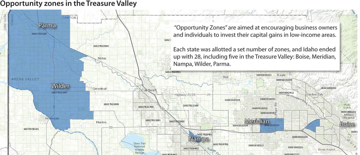 Opportunity zones for the Treasure Valley