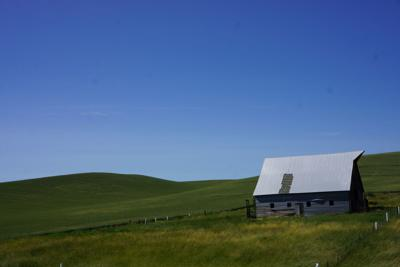 A barn outside of Moscow, Idaho