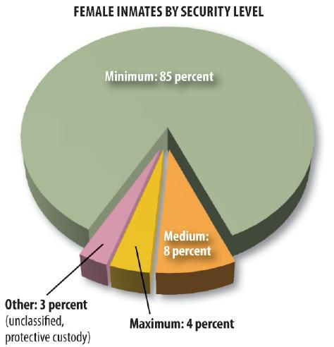 Female inmates by security level
