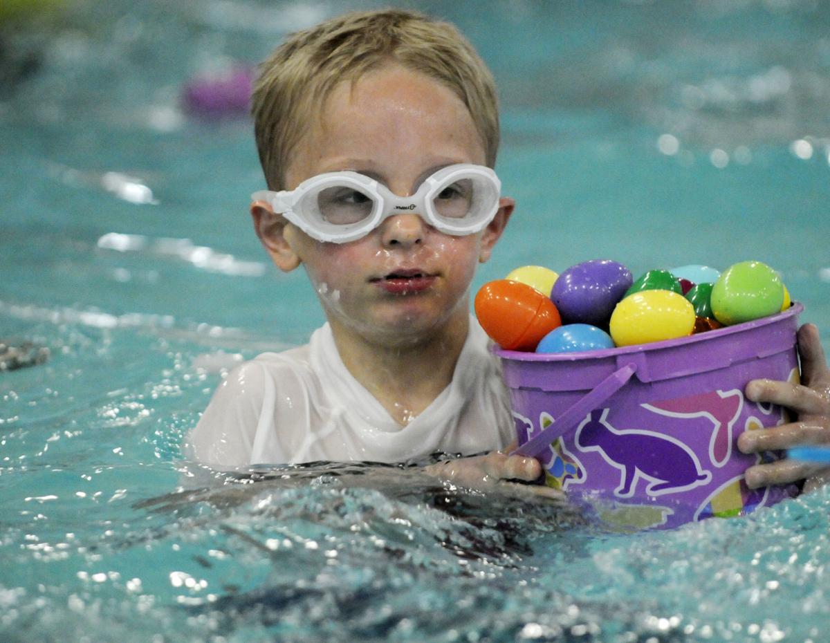 Swimming Pool Easter Egg Hunt Photos