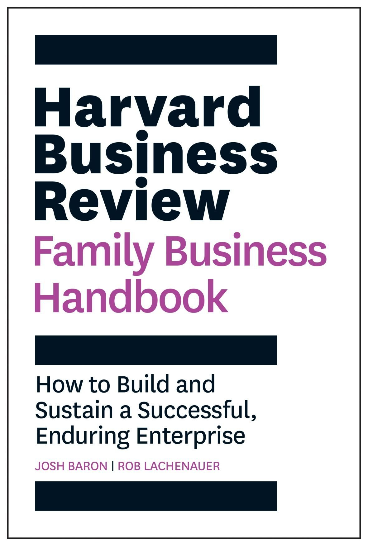 'Harvard Business Review Family Business Handbook' cover
