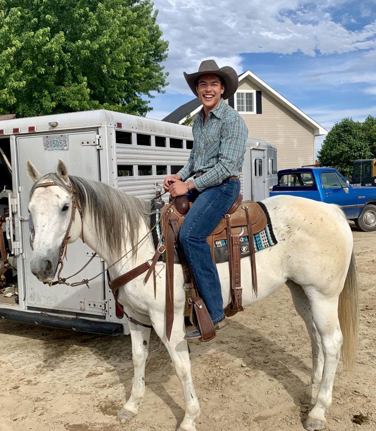 Bachmeier on horse