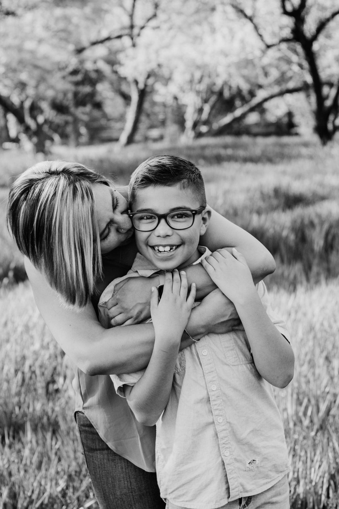 Nicole Robles and son