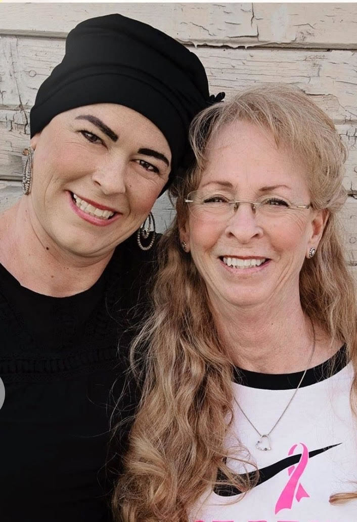 Ginger Loucks and her mother