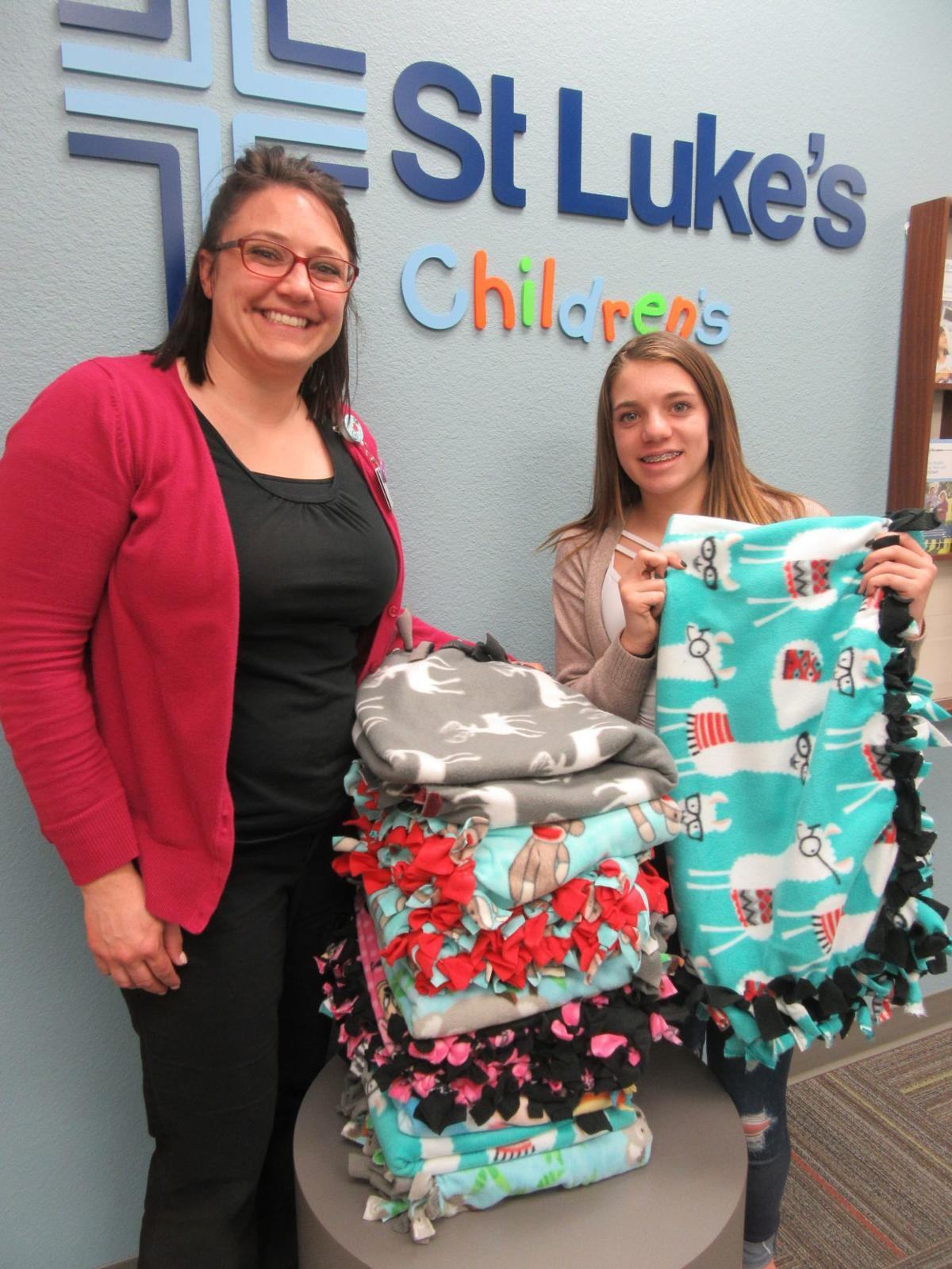 Student makes blankets for children in Caldwell hospital