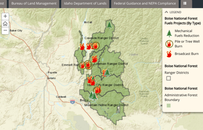 New map shows prescribed burns in southwestern Idaho | Eye on Boise ...