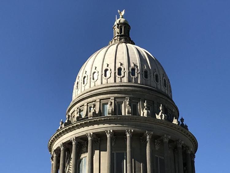 Idaho Capitol dome blue sky file
