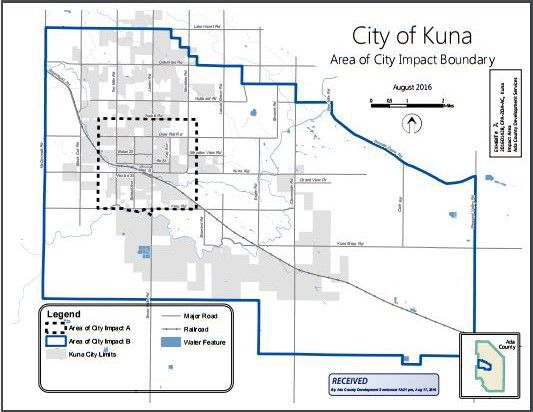 County commissioners support expanding Kuna impact boundaries