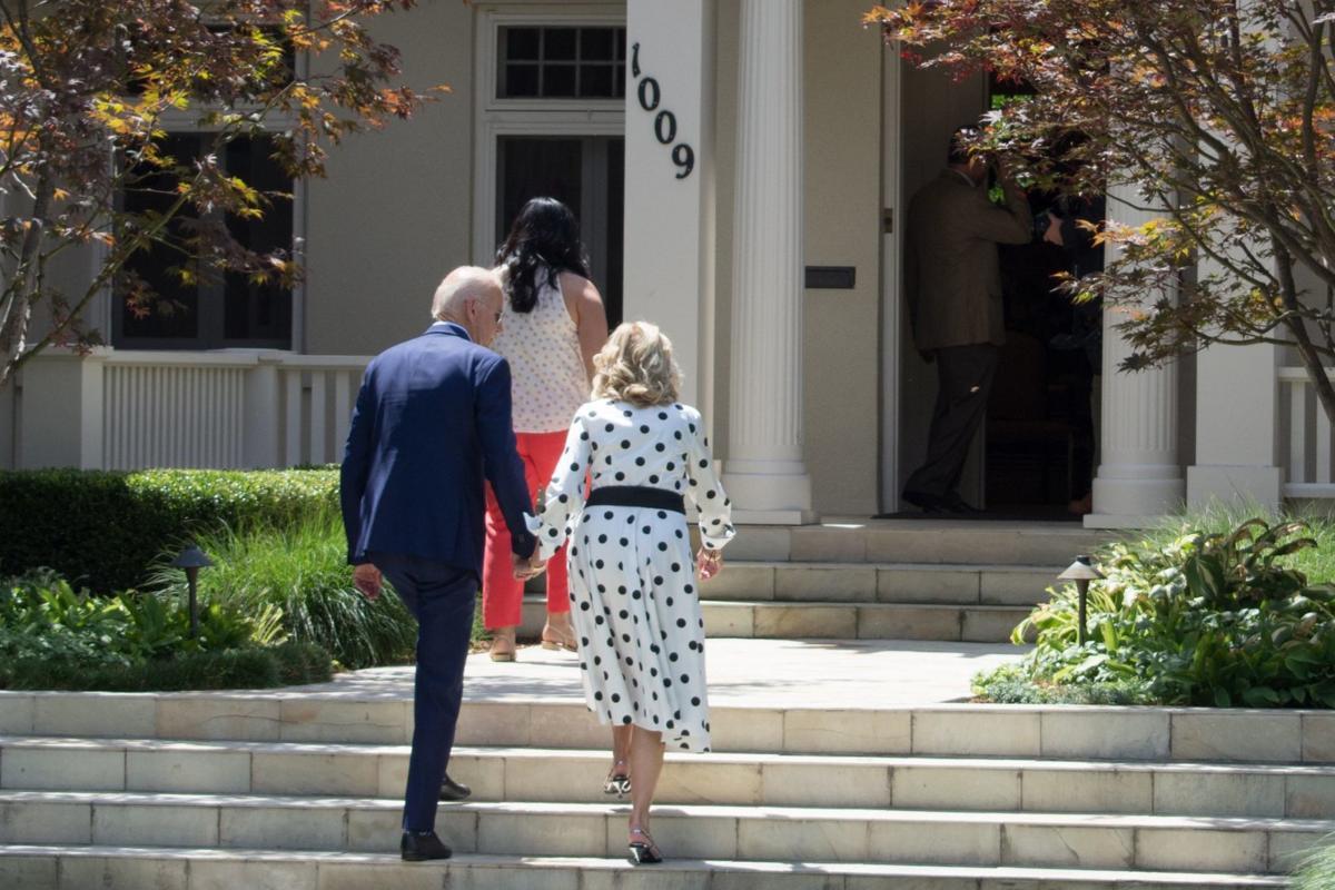 Joe and Jill Biden in Boise BSPR photo