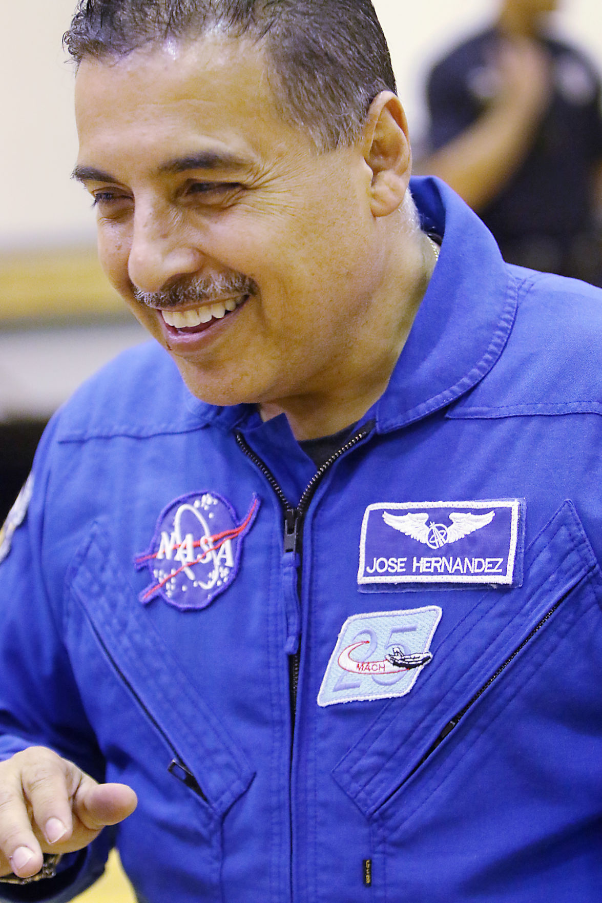 Former NASA astronaut Jose Hernandez speaks to Middleton students