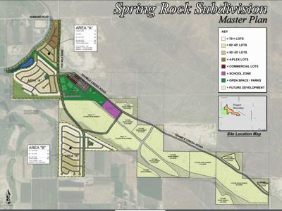 Spring Rock Subdivision Master Plan