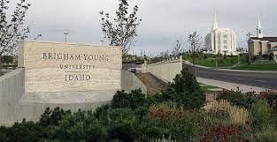 BYU Idaho sign