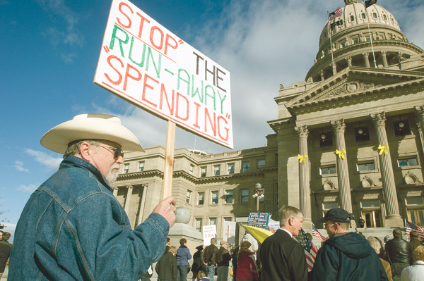 Idaho Tea Party rallies in Boise 1