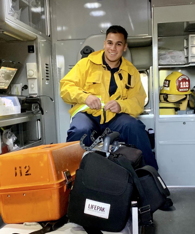 Wolpin in ambulance