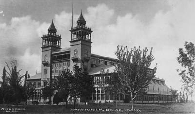 Natatorium exterior, historic photo