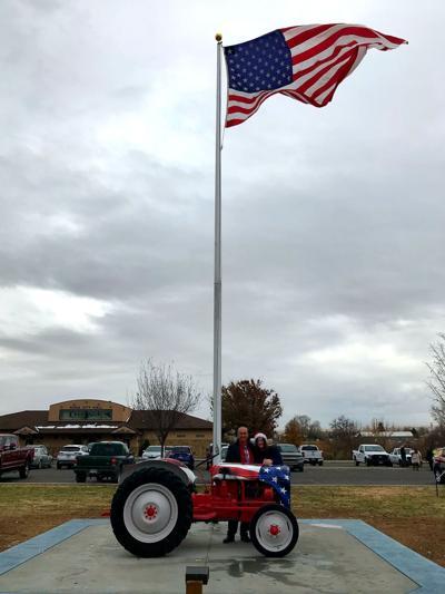 Kuna tractor and flagpole (copy)