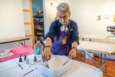 Garden City Artist-in-Residence Lynn Webster Explores Concepts of Home with Printmaking