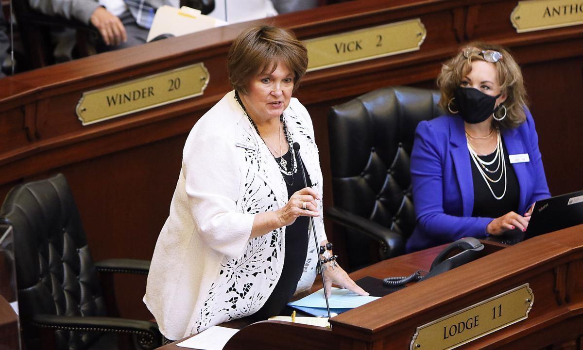 Patti Anne Lodge Senate floor by Brian April 2021