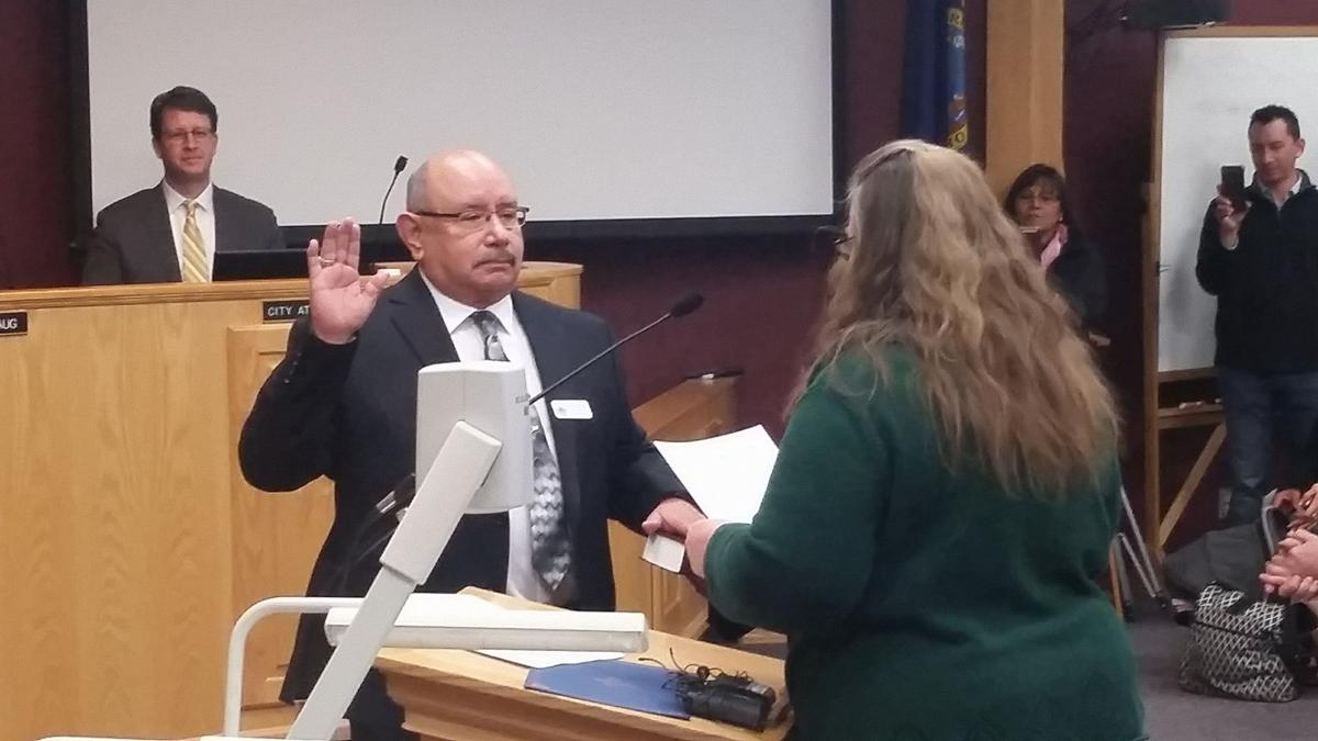 Victor Rodriguez swearing in