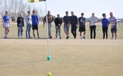 Golfers enjoying the game
