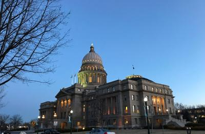 Capitol glow file; early evening