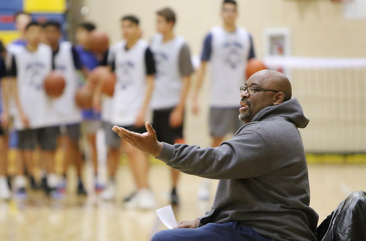 Caldwell boys basketball coach Derrick Boles