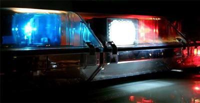 Idaho Press police lights stock image