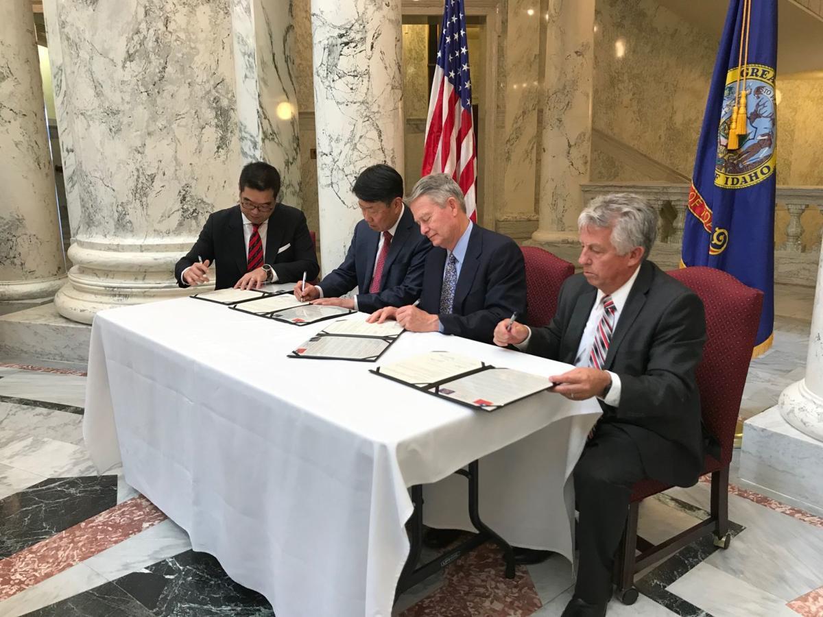Taiwan wheat deal signing