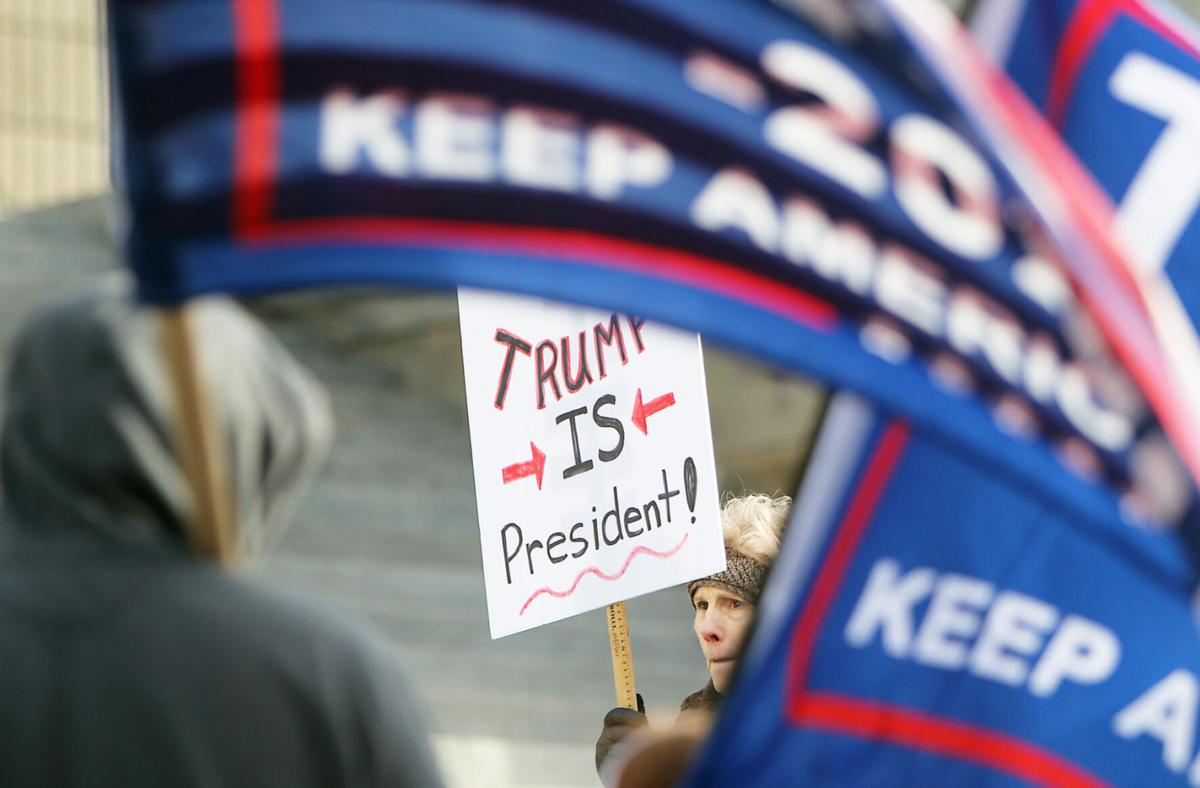 Trump support rally