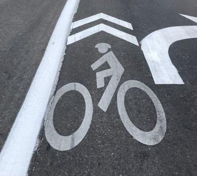 Bike sign on street