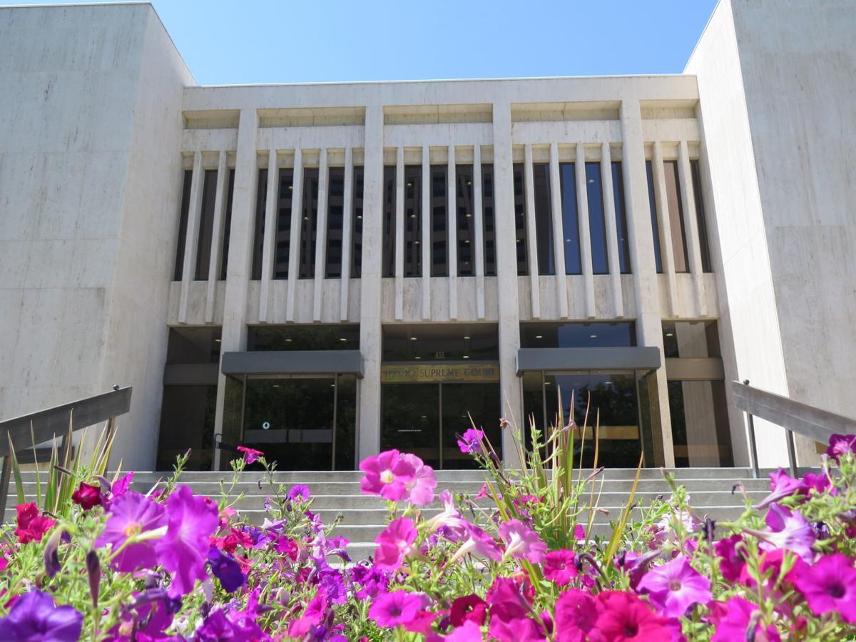 Idaho Supreme Court building flowers