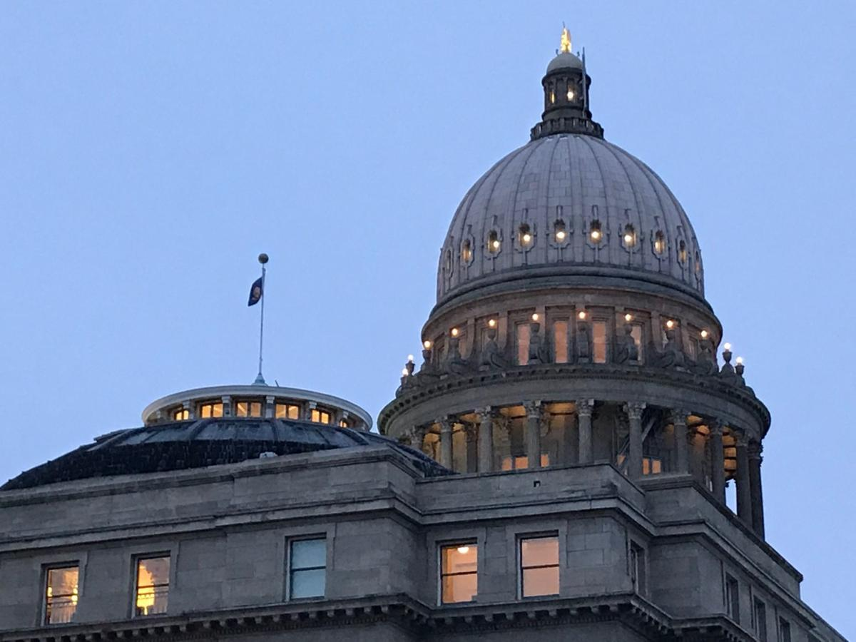 Idaho state capitol early a.m.