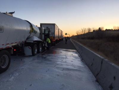 Milk spills onto I-84 in crash near Meridian | Local News