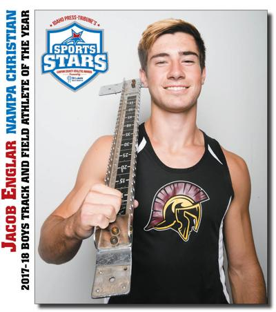 BOYS TRACK AND FIELD ATHLETE OF THE YEAR: Jacob Englar, Nampa Christian