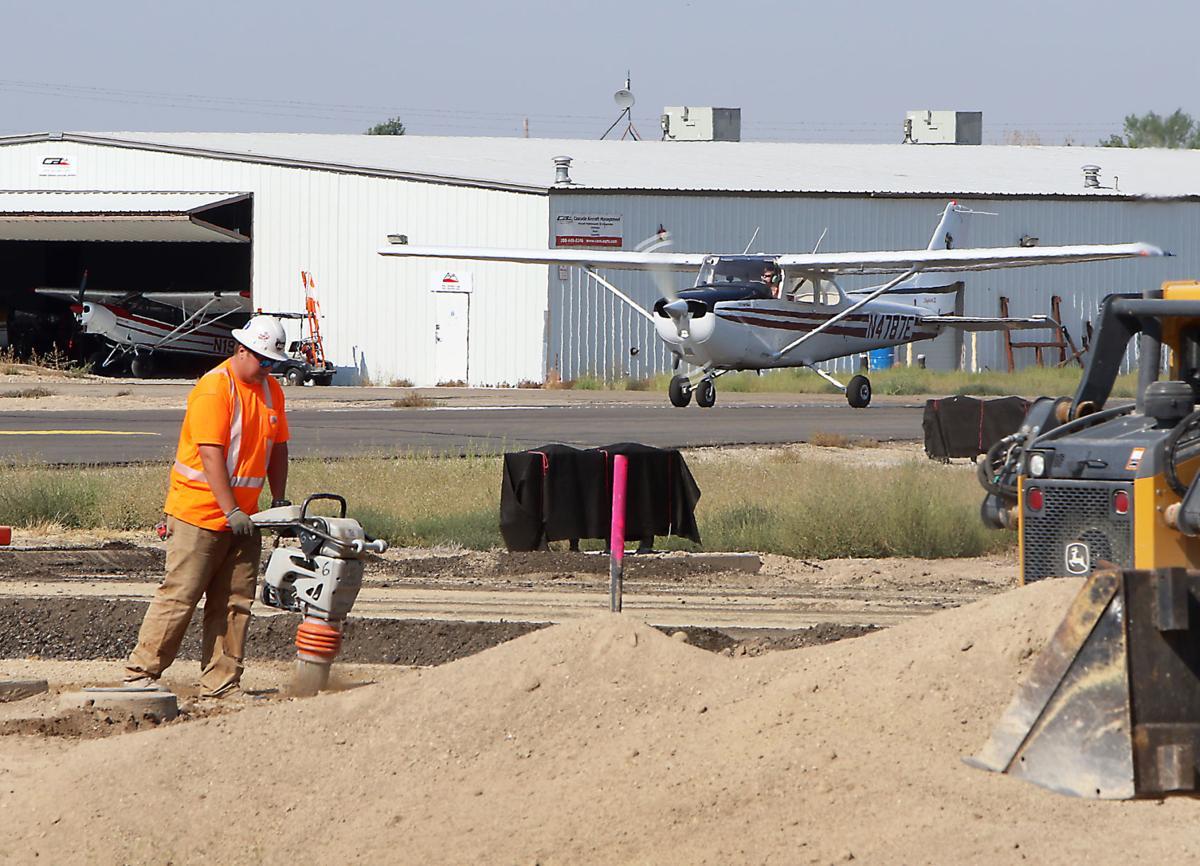 Caldwell Airport runway construction