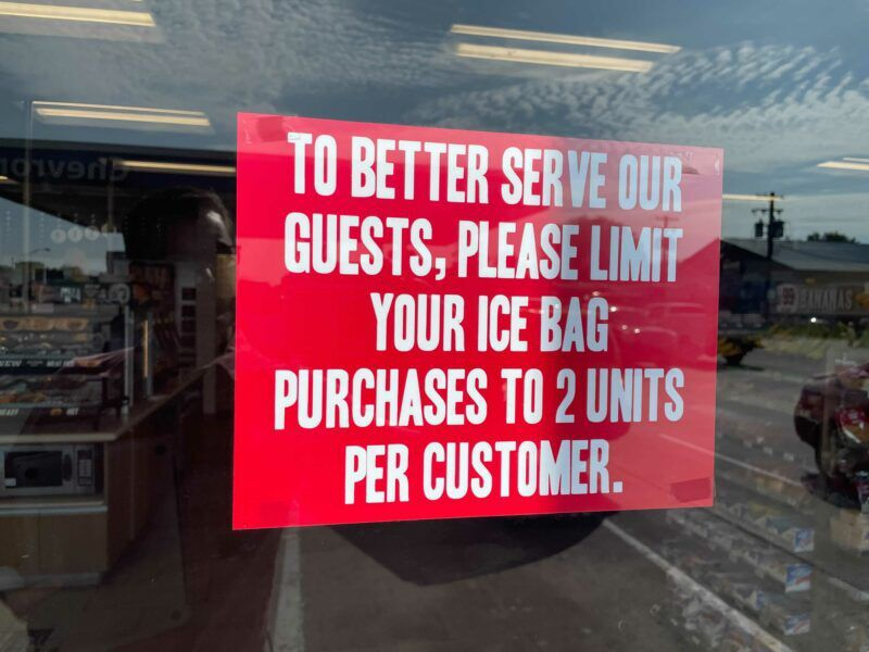 Iced out: The latest shortage in SW Idaho? Yep. Frozen water.