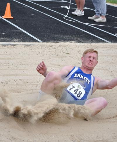 Helms takes on long jump