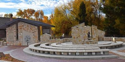 Idaho Anne Frank Human Rights memorial overview, eastern portion