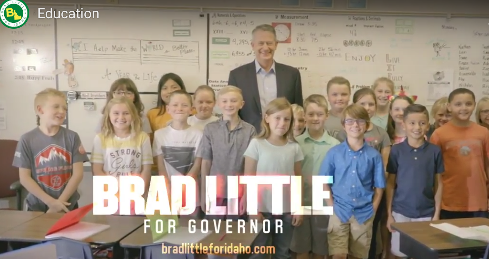 AdWatch: Little's latest campaign spot focuses on education | Idaho Press