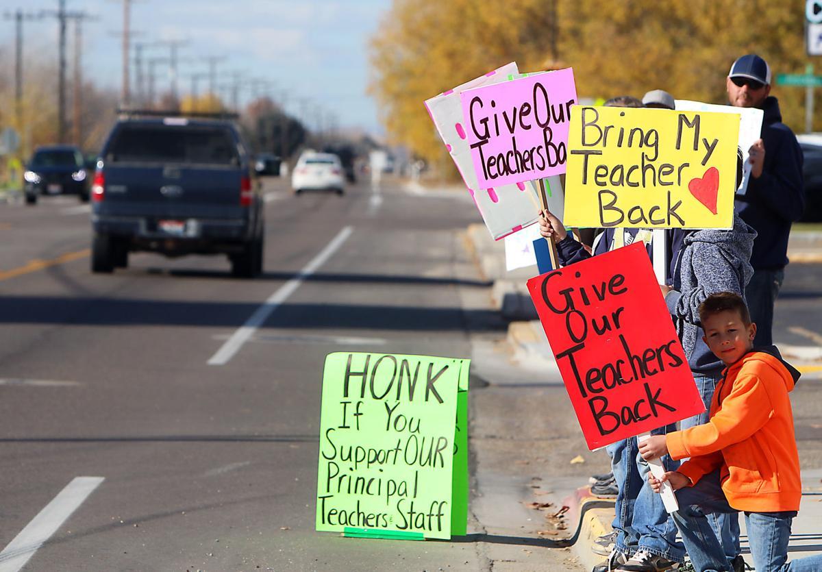 Middleton School protest