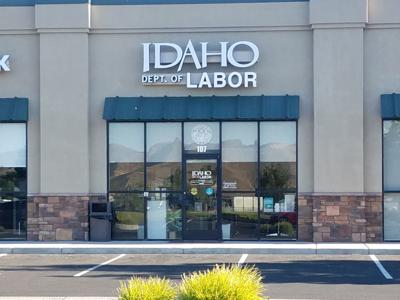 Idaho Department of Labor sign at Emmett office