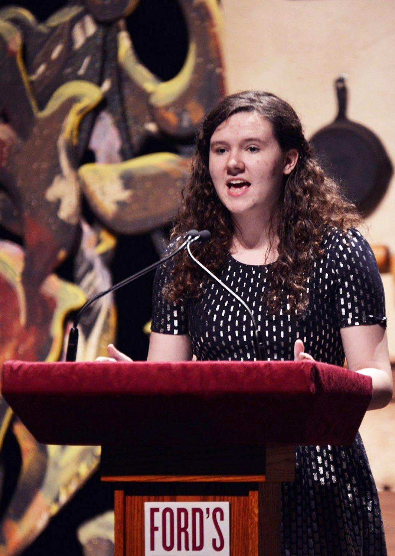 "Miranda Keen gives ""Student Bullying of Teachers"" speech"