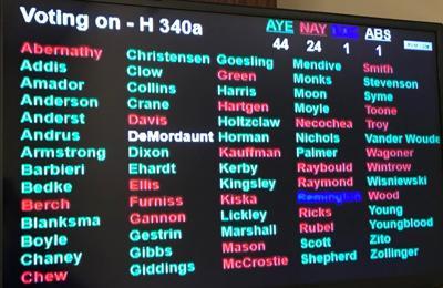 House vote on HB 340