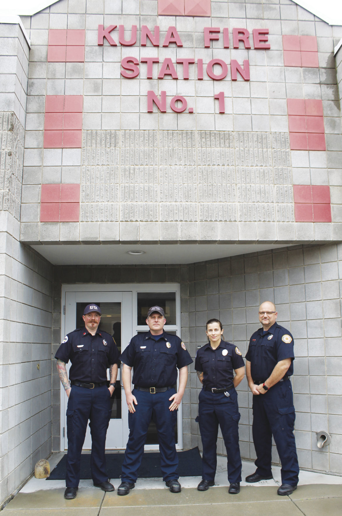 Kuna firefighters outside Station 1